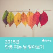 2015년 첫 단풍 피는 날, 단풍 절정 시기는?